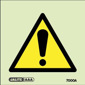 Warning safety sign