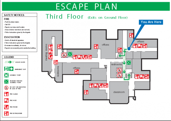 ISO 23601 Escape and Evacuation Plan Signs