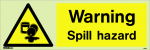 Warning Spill hazard