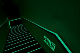 High rise buildings, photoluminescent, stairwell egress systems